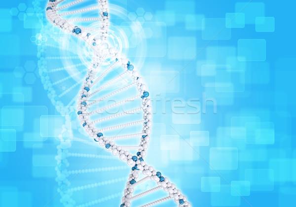 человека ДНК белый кольца шестиугольник информации Сток-фото © cherezoff