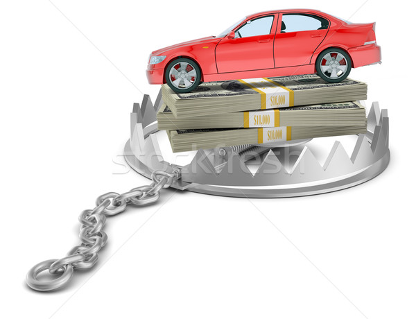Car with money in bear trap Stock photo © cherezoff