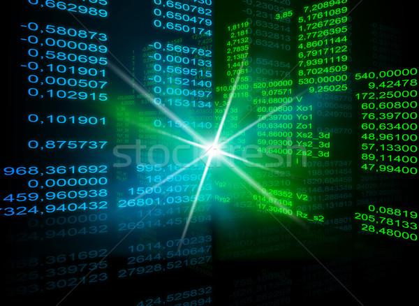 Matrycy czarny Spotlight niebieski symbolika kodu Zdjęcia stock © cherezoff