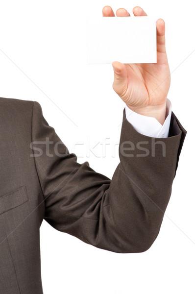 Affaires carte vierge isolé blanche papier Photo stock © cherezoff