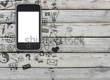 火災 下がり スマートフォン 危険 画面 難 ストックフォト © cherezoff