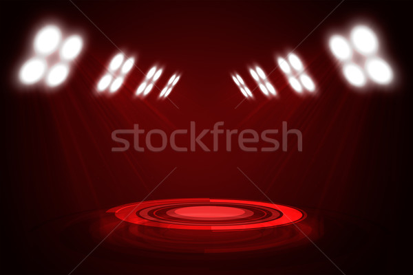 Abstract red exhibition background Stock photo © cherezoff
