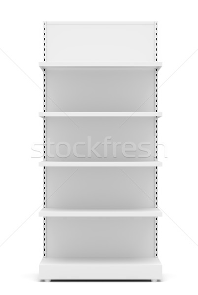 Blanco vacío menor estantería frente vista Foto stock © cherezoff