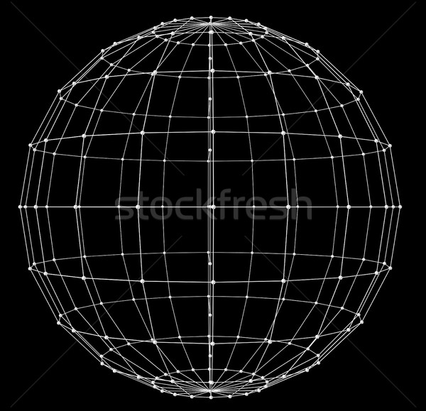 Sphere. Abstract network connection background Stock photo © cherezoff