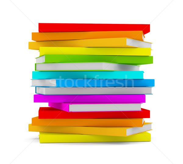Livres isolé blanche 3d illustration livre Photo stock © cherezoff