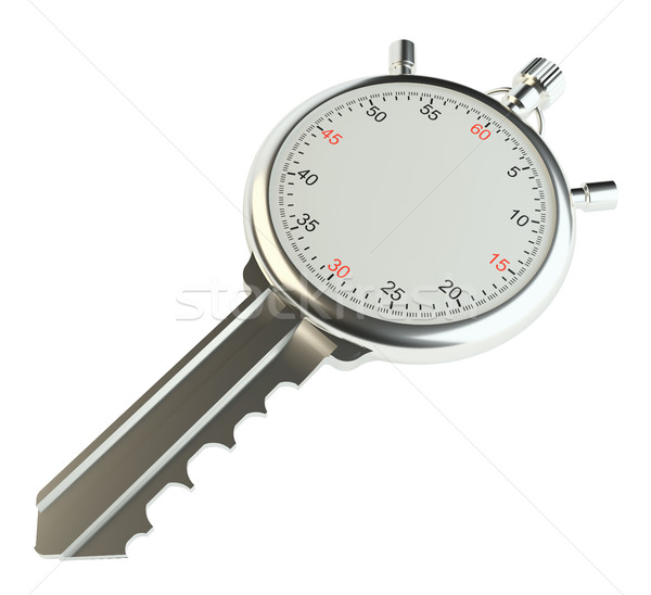 Key with stopwatch. Template for your design Stock photo © cherezoff