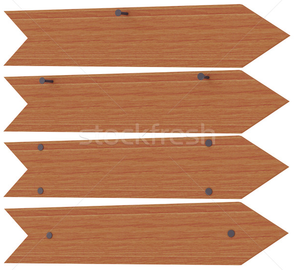 Wooden arrows nailed Stock photo © cherezoff