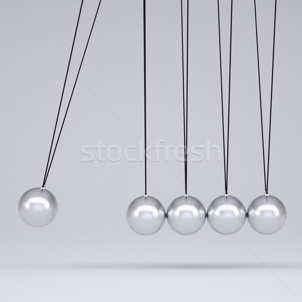 Close up of Newton's cradle Stock photo © cherezoff