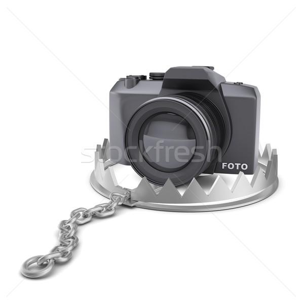 камеры несут ловушка изолированный белый Сток-фото © cherezoff