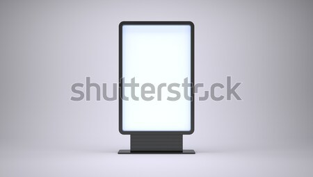 Banner with blank screen Stock photo © cherezoff