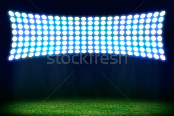 Foto stock: Abstrato · futebol · futebol · estádio · cópia · espaço · texto
