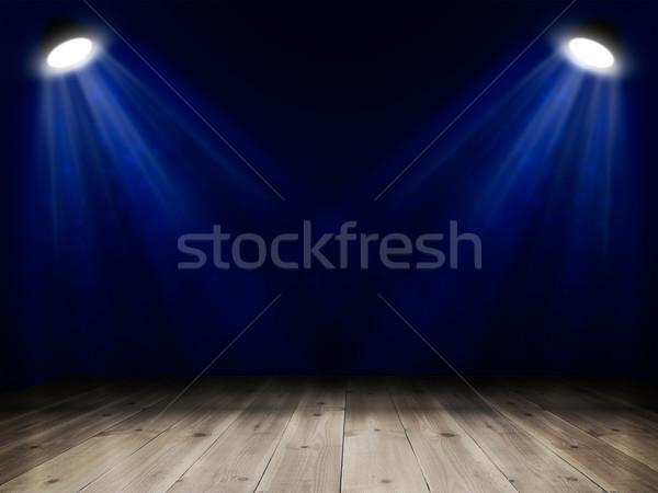 Belső fapadló előadás absztrakt háttér éjszaka Stock fotó © cherezoff