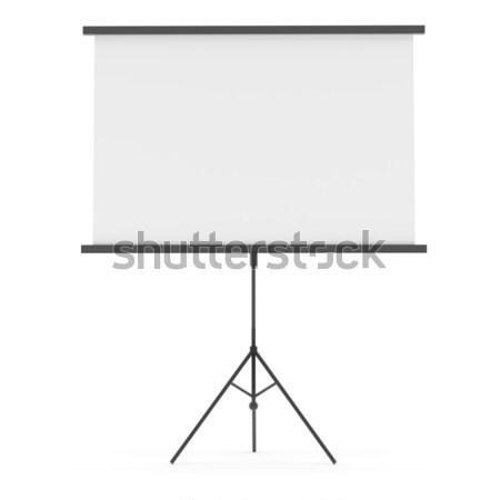 Projeksiyon ekran yalıtılmış beyaz yer Stok fotoğraf © cherezoff
