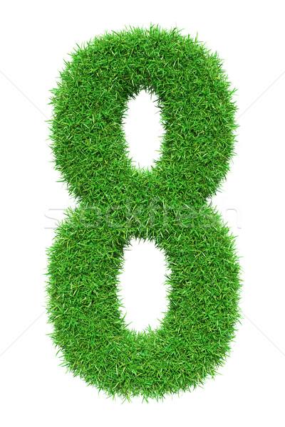 Green grass number 8 Stock photo © cherezoff