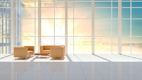 Minimalny działalności wnętrza wieżowiec piętrze piękna Zdjęcia stock © cherezoff