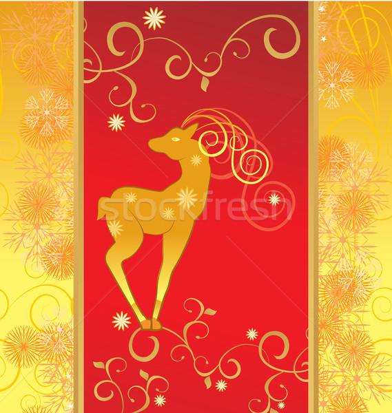 vector christmas decor deer Stock photo © cherju