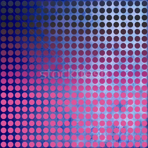 grunge magenta and blue dots background Stock photo © cherju