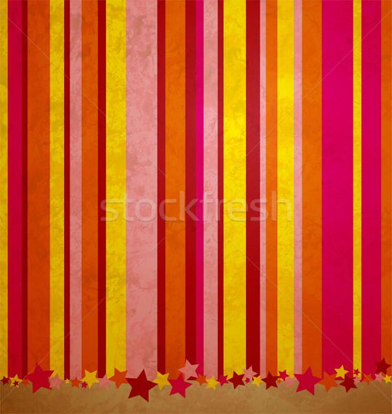 Csíkok csillagok színes grunge fal festék Stock fotó © cherju