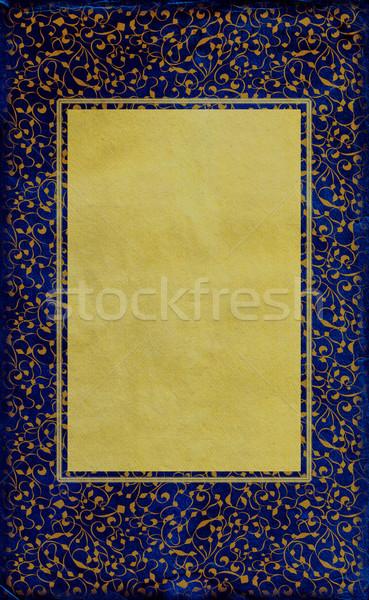 Real azul papel viejo dorado marco pintura Foto stock © cherju