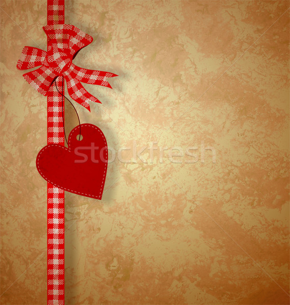valentine's day or wedding vintage grunge paper background with  Stock photo © cherju