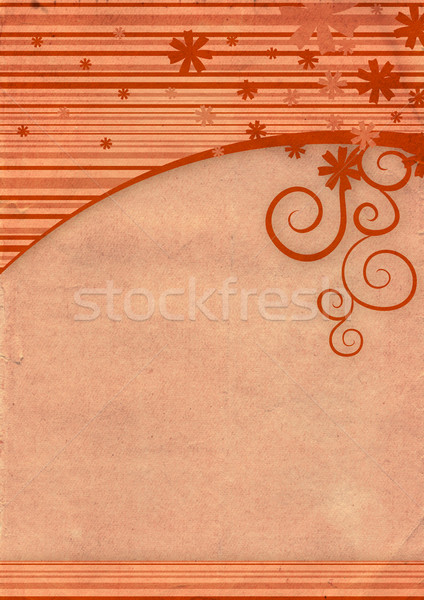 red blank old paper with winter decor frame Stock photo © cherju