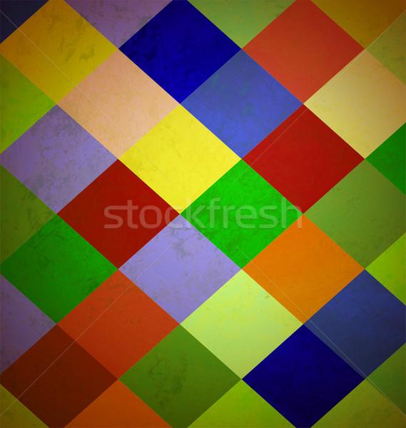 Kleurrijk grunge pleinen papier muur frame Stockfoto © cherju