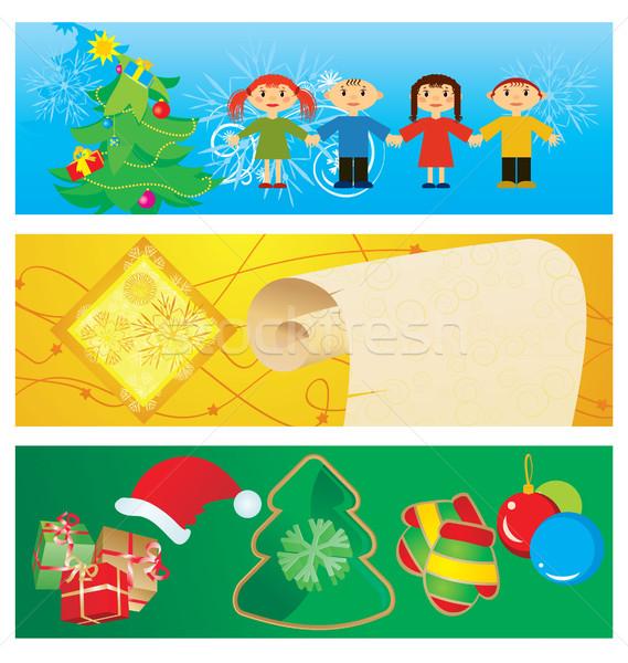 vector banners christmas set Stock photo © cherju