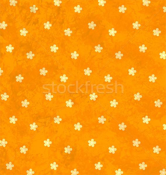Naranja textura grunge decoración flores ornamento papel Foto stock © cherju