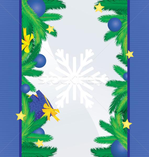 Színes kék karácsonyfa dekoráció ajándék karácsony Stock fotó © cherju