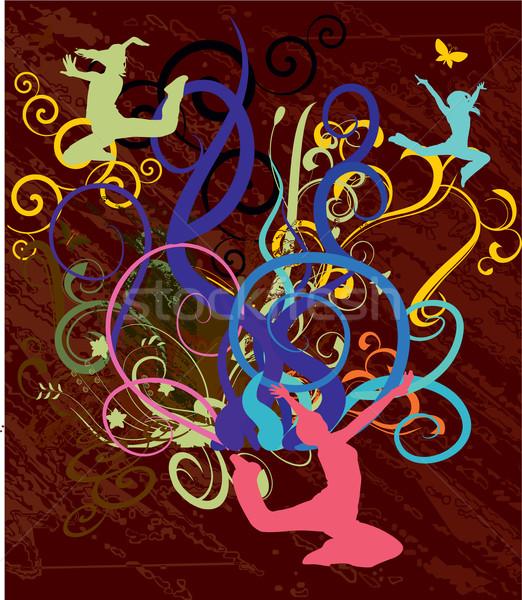 Baile mujeres resumen ilustración Foto stock © cherju