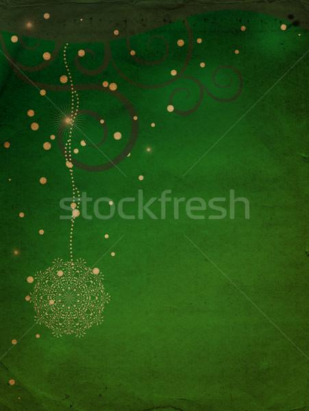 Grunge verde invierno papel diseno Foto stock © cherju
