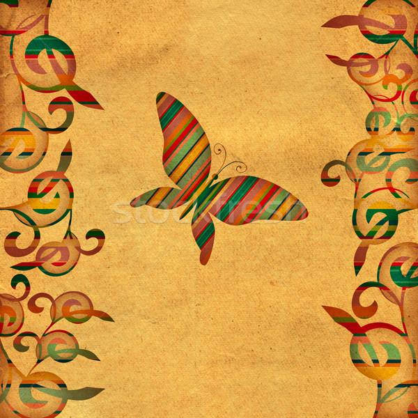 Pillangó klasszikus barna boldog természet terv Stock fotó © cherju