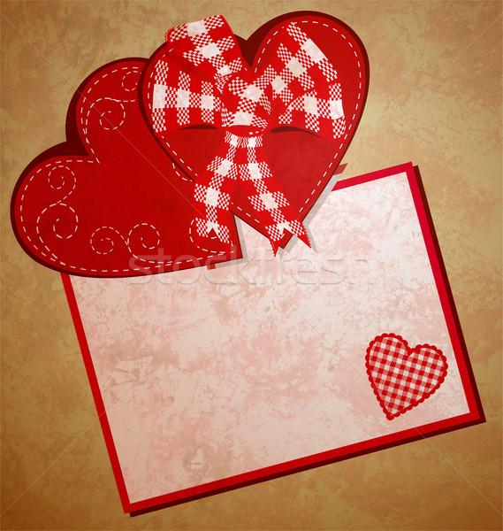 Rojo corazón día de san valentín ilustración amor romance Foto stock © cherju