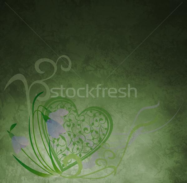 Szív papír textúra tavasz természet szépség Stock fotó © cherju