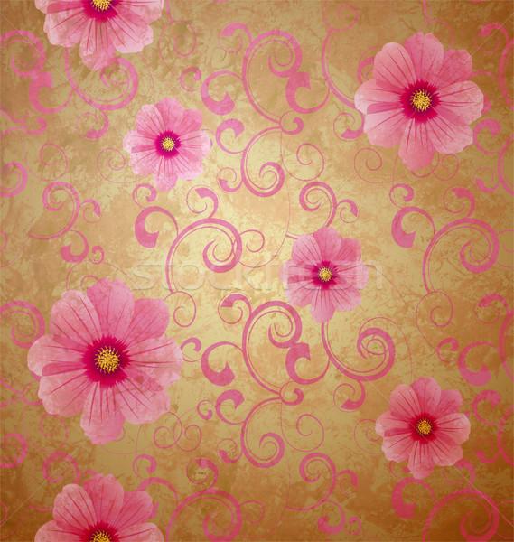 Rózsaszín virágok romantikus tavasz klasszikus szeretet Stock fotó © cherju