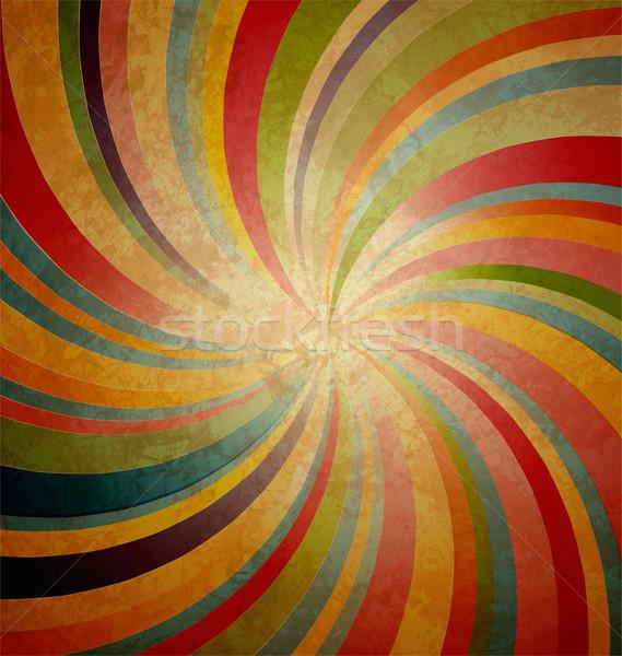 swirl stripe centered on grunge brown background Stock photo © cherju