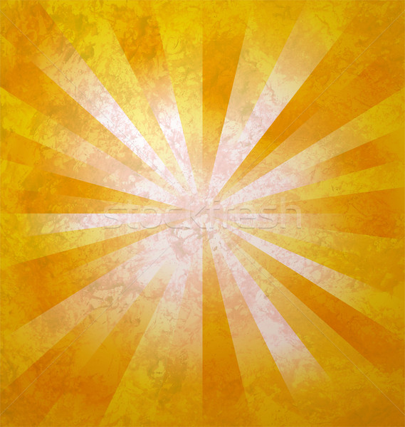 yellow rays of light from center to the edges  grunge background Stock photo © cherju