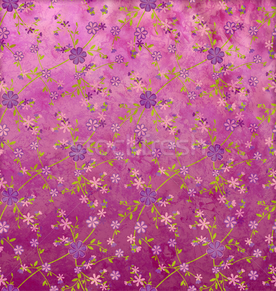 Virágok minta papír grunge klasszikus rózsa Stock fotó © cherju