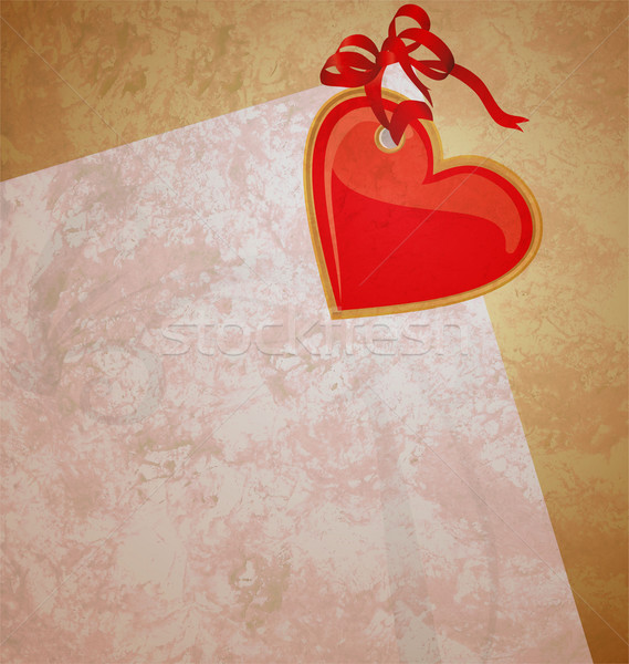 red heart wintage xtyle valentines day illustration for love, ro Stock photo © cherju