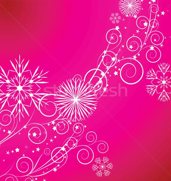 Navidad vintage copo de nieve tarjeta vector ilustración Foto stock © cherju