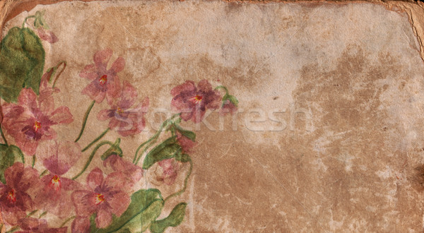 Régi papír virág papír szeretet rózsa terv Stock fotó © cherju