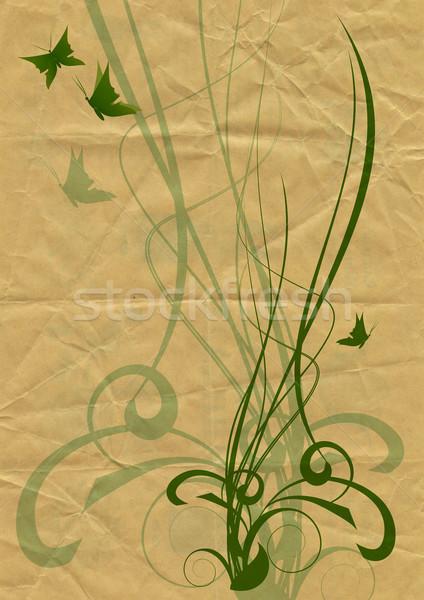 Természet stílus pillangók tavasz fű pillangó Stock fotó © cherju