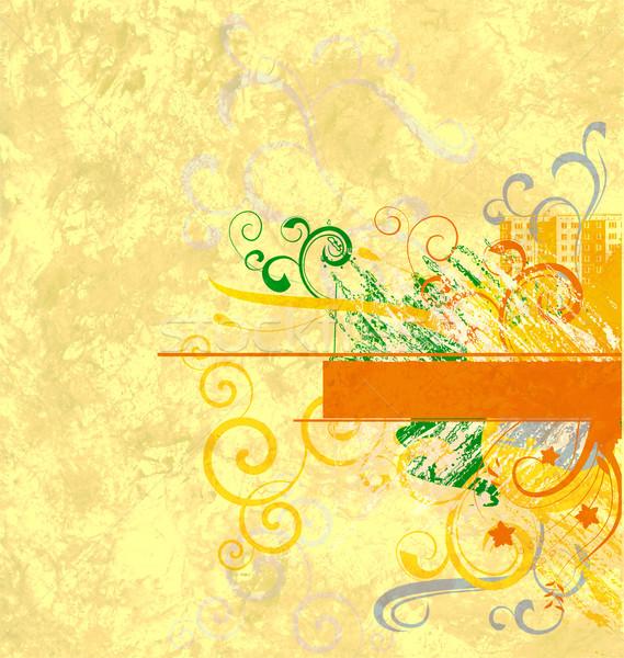 Stockfoto: Geel · abstract · papier · textuur · vlinder
