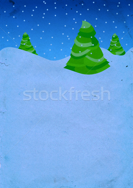Christmas drzew mroźny noc tekstury śniegu Zdjęcia stock © cherju