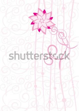 Vector cepillo dibujo rosa flores flor Foto stock © cherju
