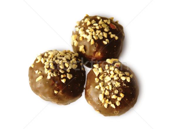 Sütik csokoládé keret konyha tej csillag Stock fotó © cherju