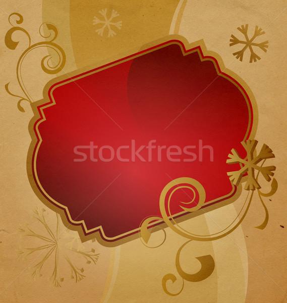 Karácsony szalag klasszikus illusztráció születésnap keret Stock fotó © cherju