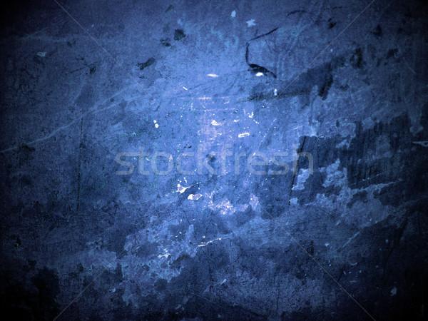 Agrietado amarillo pared azul textura diseno Foto stock © cherju