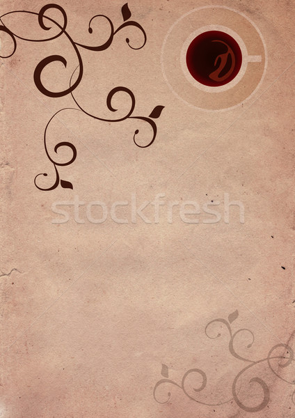 Coffee brown grunge background  Stock photo © cherju