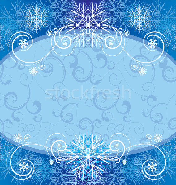 Navidad vintage copo de nieve tarjeta marco ilustración Foto stock © cherju